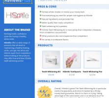HiSmile Review – At-Home Teeth Whitening Kits and More – ReviewsPlus
