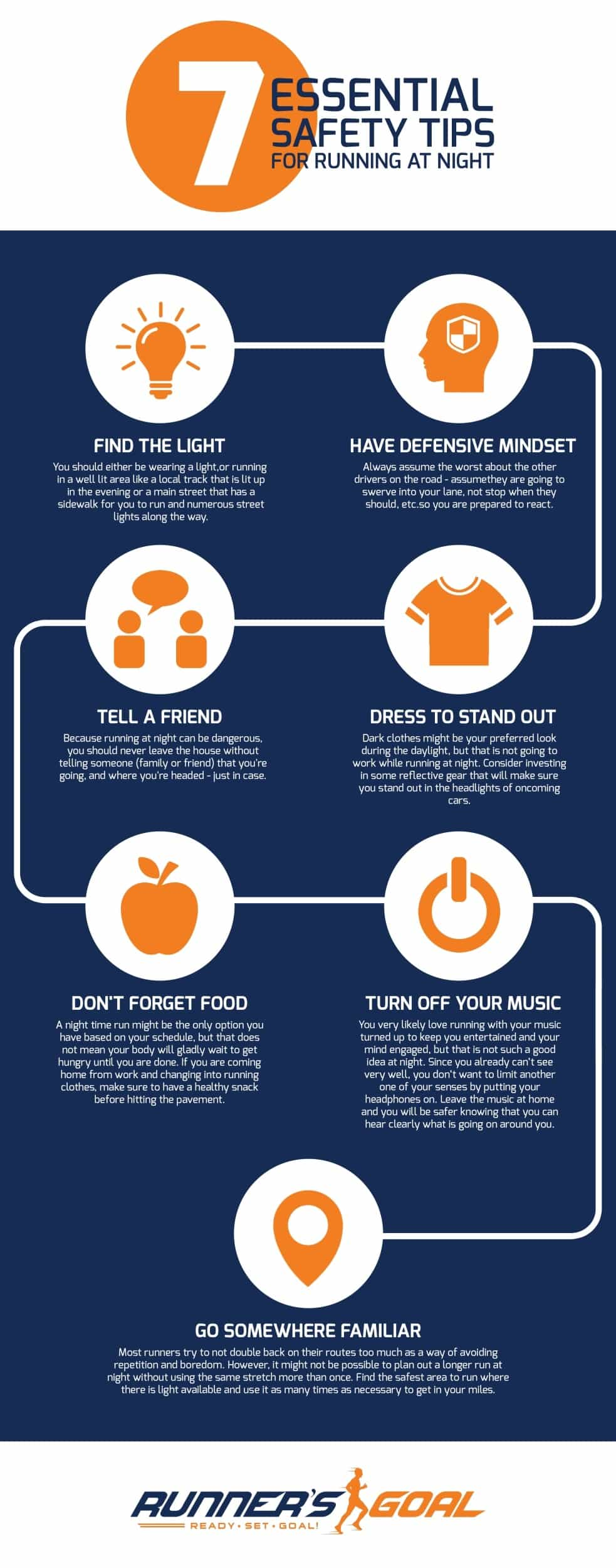 Safety Tips For Running At Night-infographic