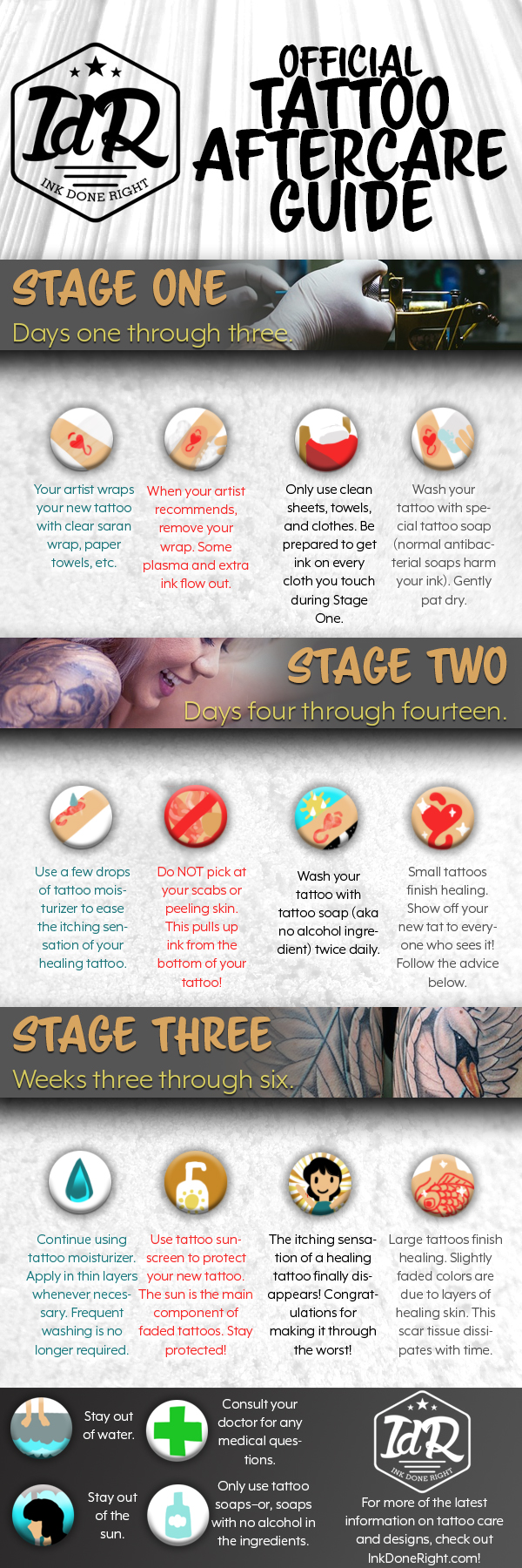 How To Care For A Tattoo AfterCare Guide