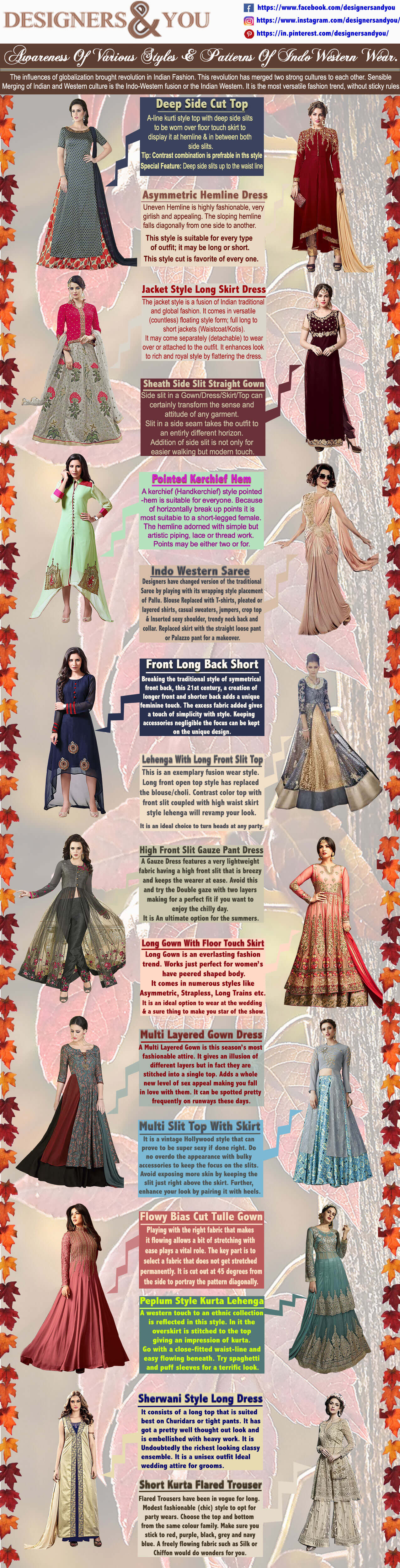Woman's Designer Indian Indo Western Gown Dresses-infographic-galleryr