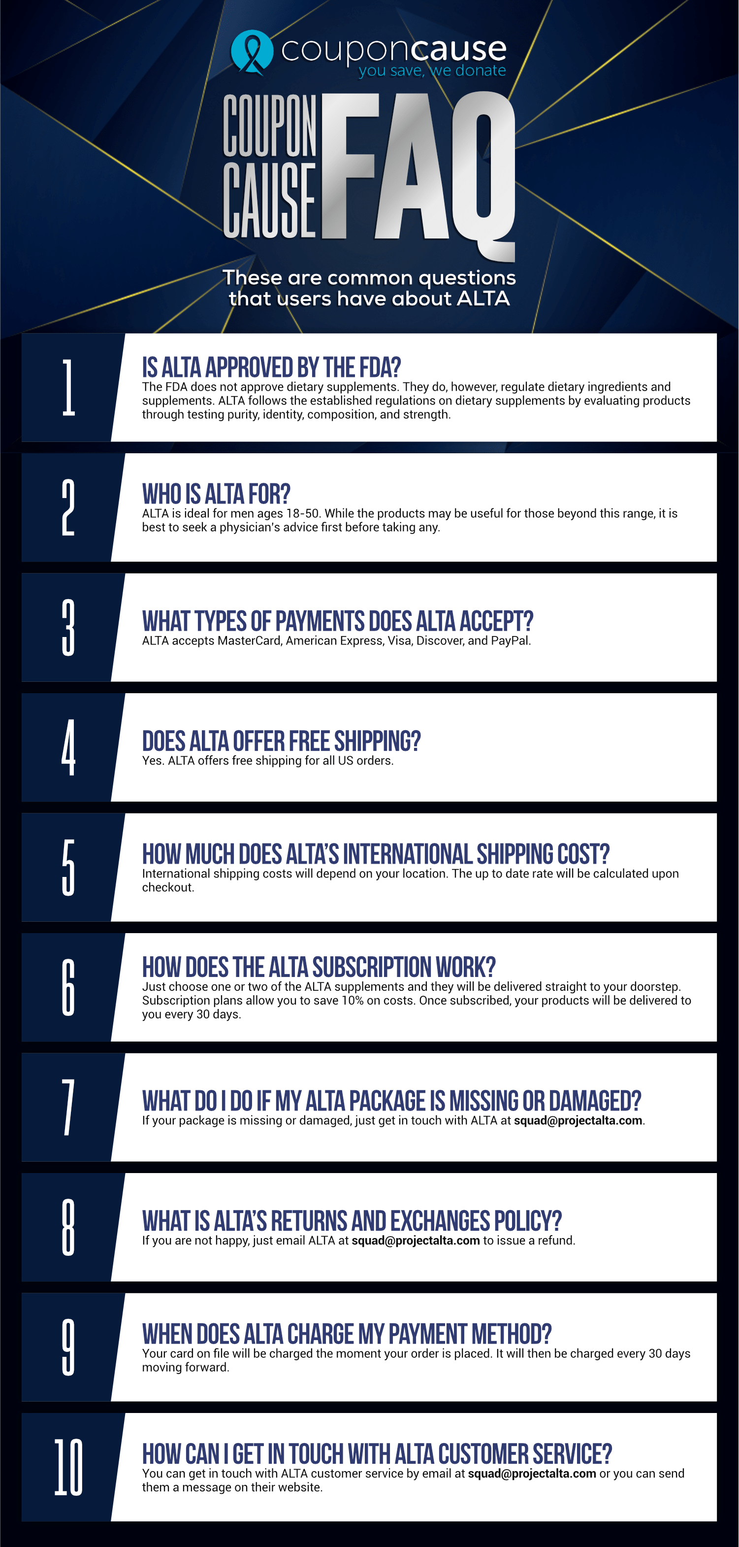 ALTA Infographic Order Coupon Cause FAQ (C.C. FAQ)