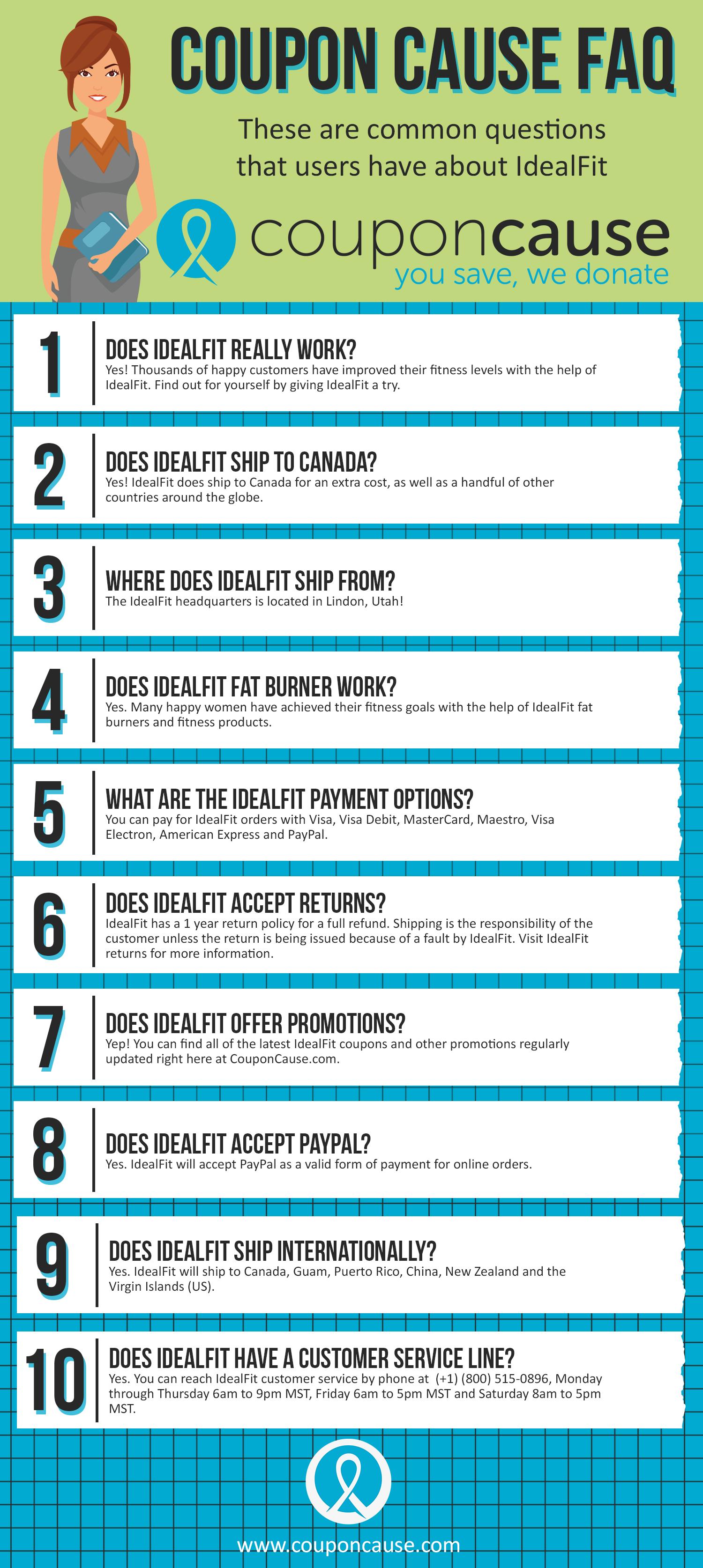 IdealFit Cause FAQ (C.C. FAQ)