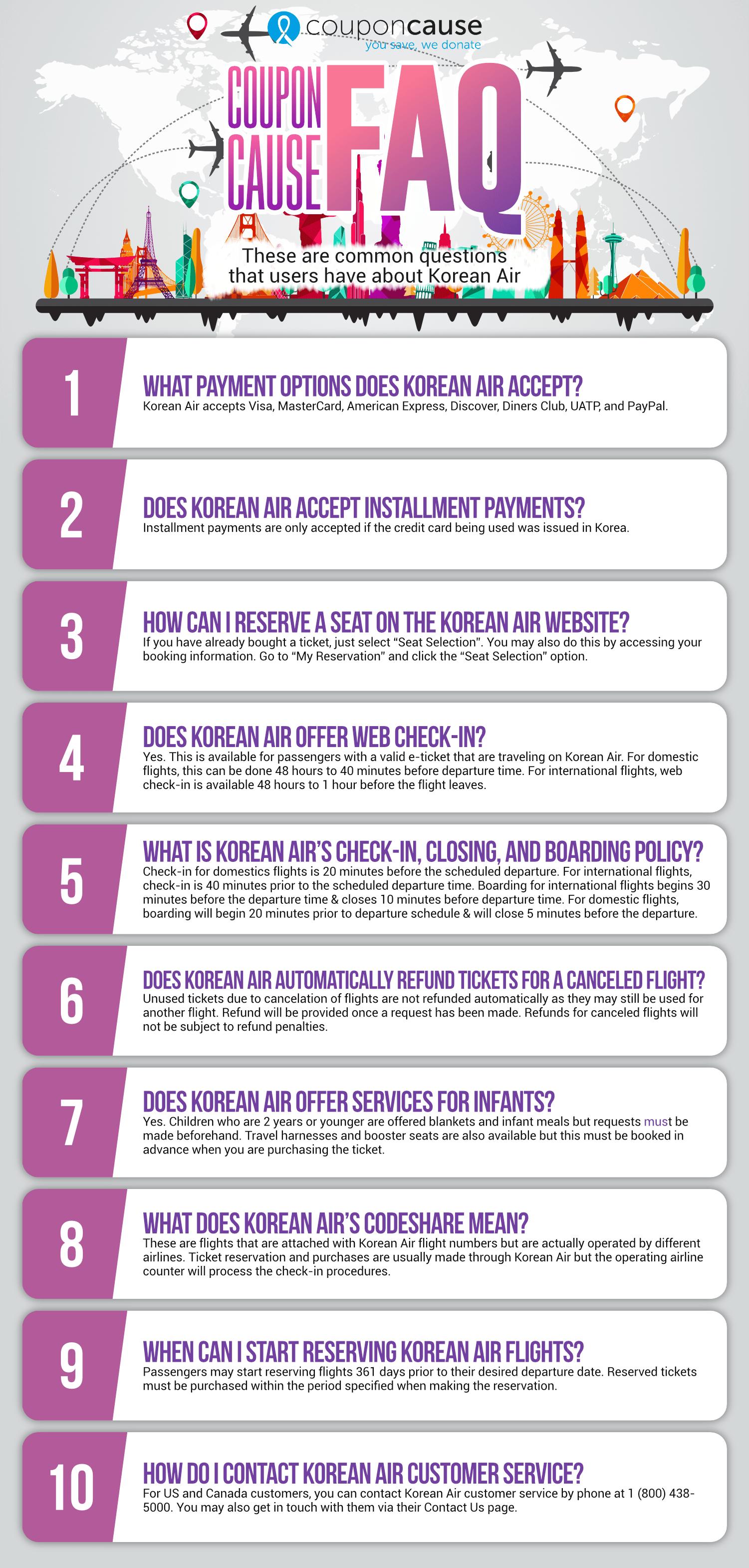Korean Air Infographic Order Coupon Cause FAQ (C.C. FAQ)