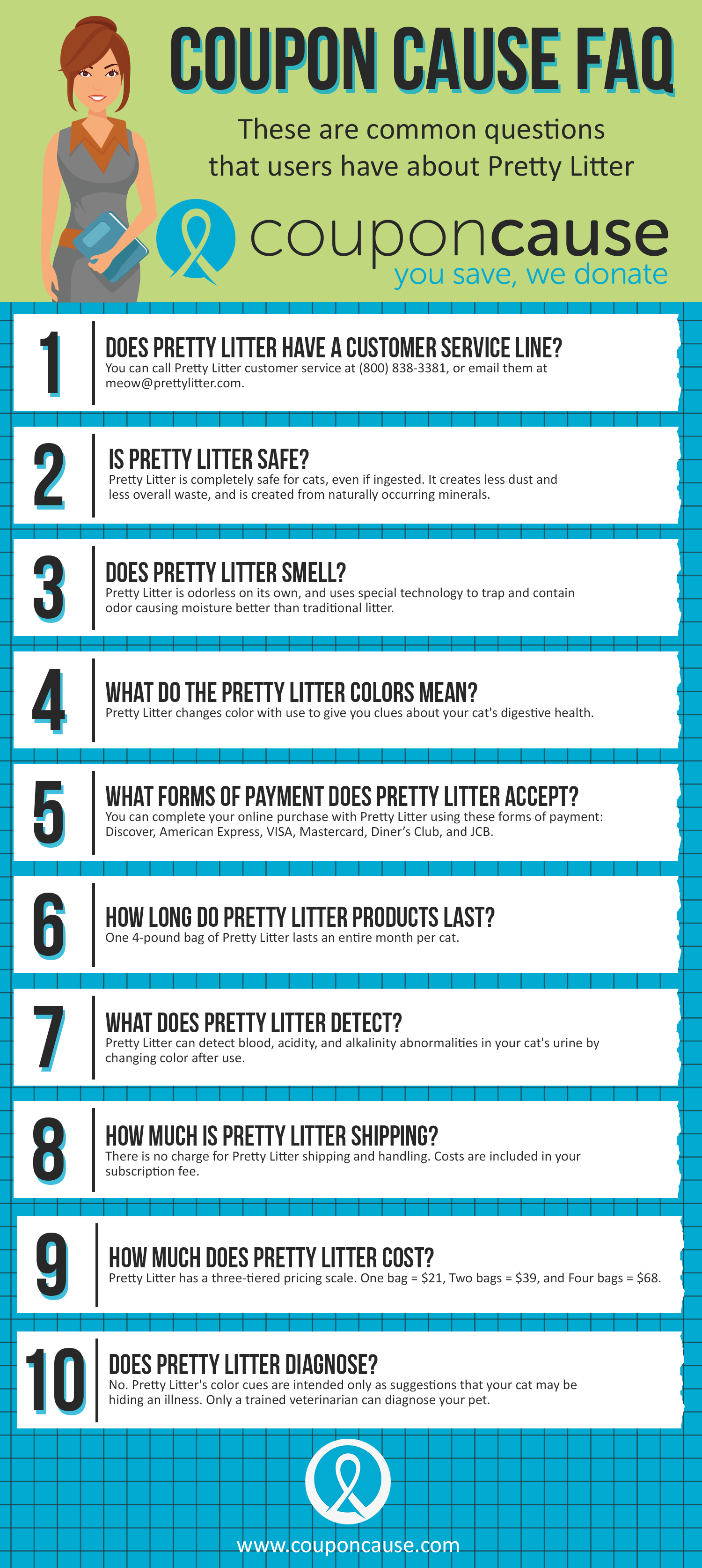 Pretty Litter Coupon Cause FAQ (C.C. FAQ)