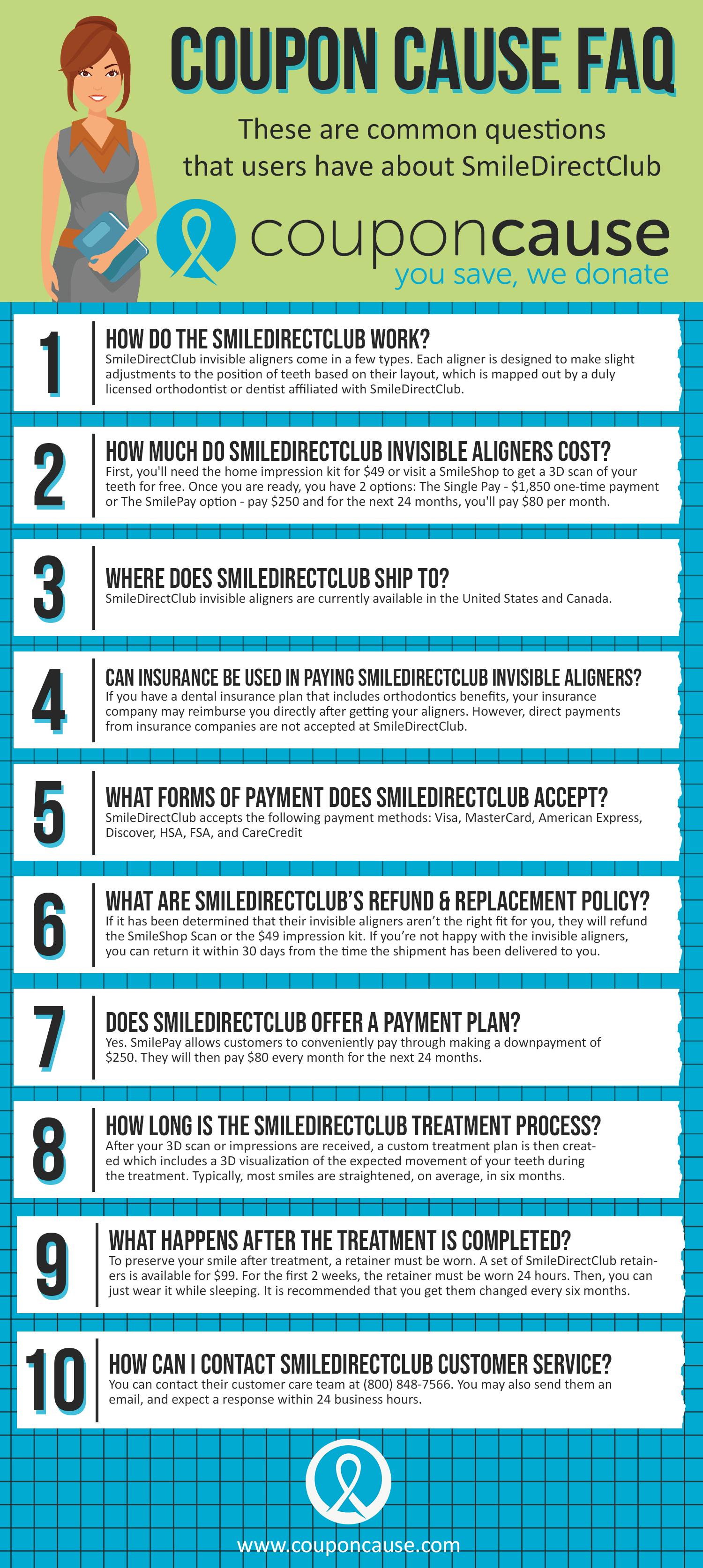 SmileDirectClub Coupon Cause FAQ (C.C. FAQ)