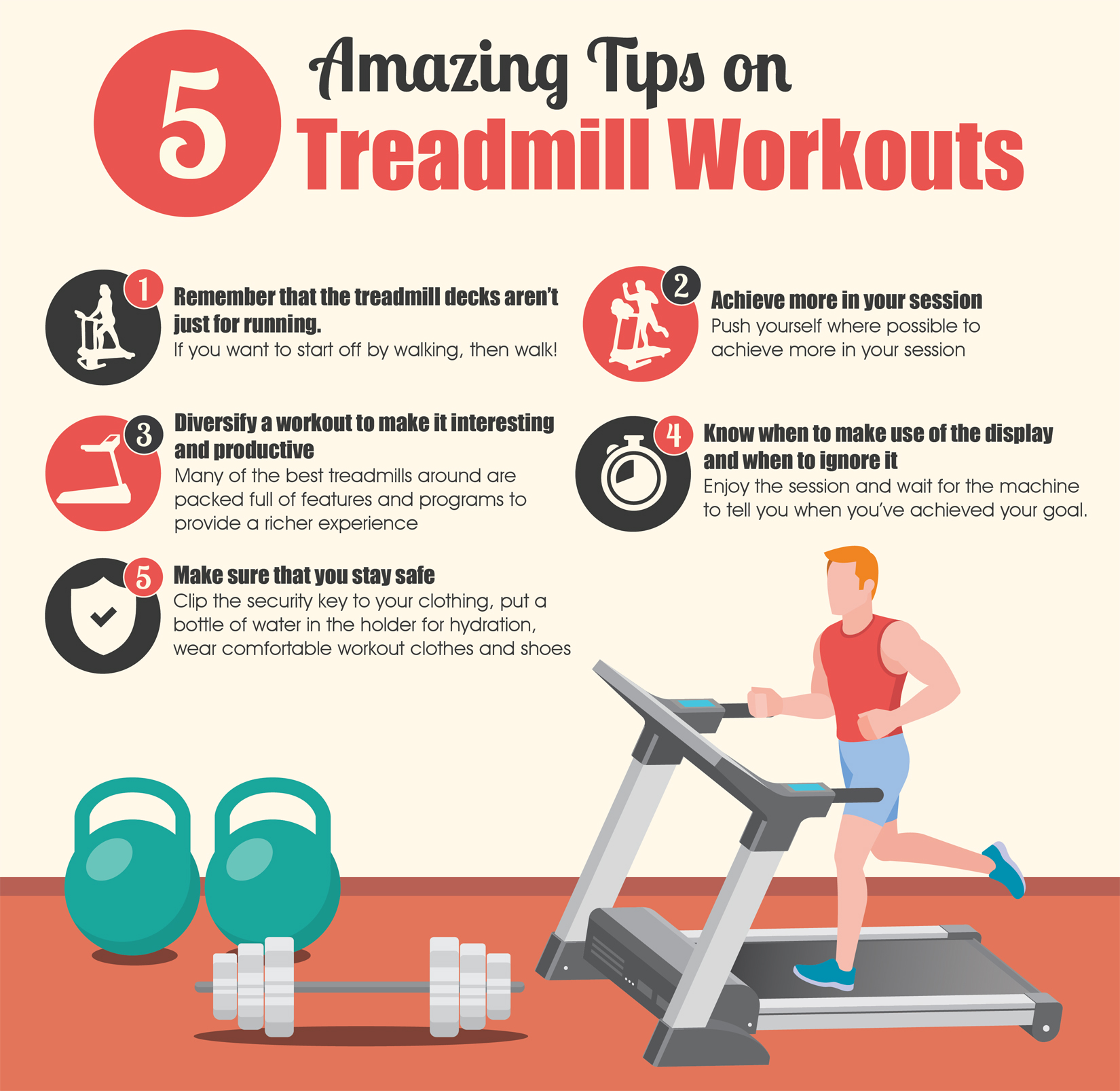 5 Amazing Tips on Treadmill Workouts