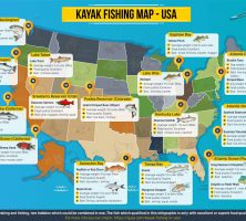 Kayak Fishing Map – USA