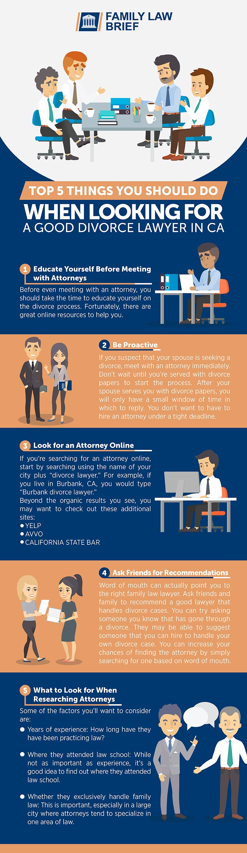 Top 5 Steps When Looking for a Good Divorce Lawyer