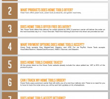 Howe Tools Infographic Order Coupon Cause FAQ (C.C. FAQ)