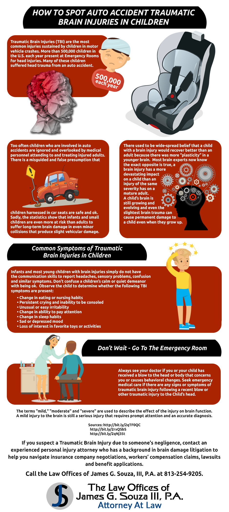 How to Spot Auto Accident Traumatic Brain Injuries in Children